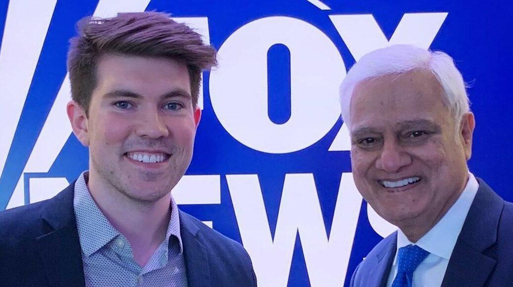 Caleb Parke with Ravi Zacharias