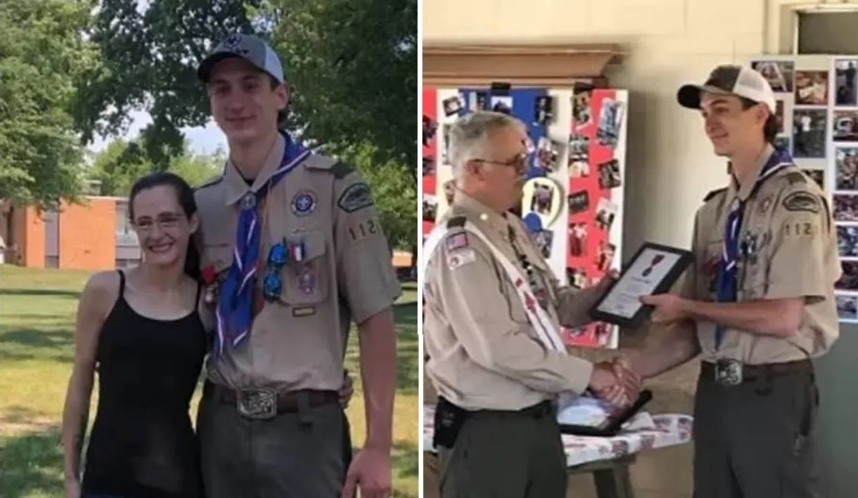 Michigan Eagle Scout Gets 'Heroism Award' for Saving Woman from Burning Car