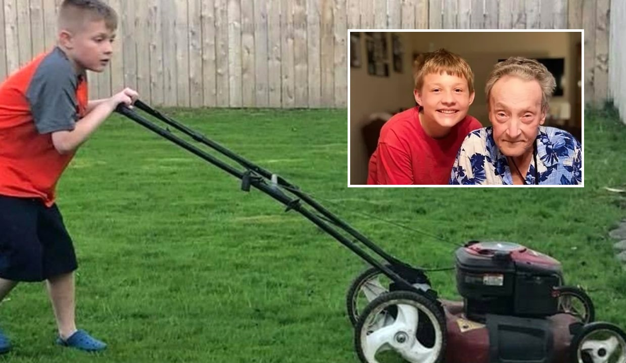 Boy, 14, Mowing 50 Veterans' Lawns for FREE in Honor of His Grandpa