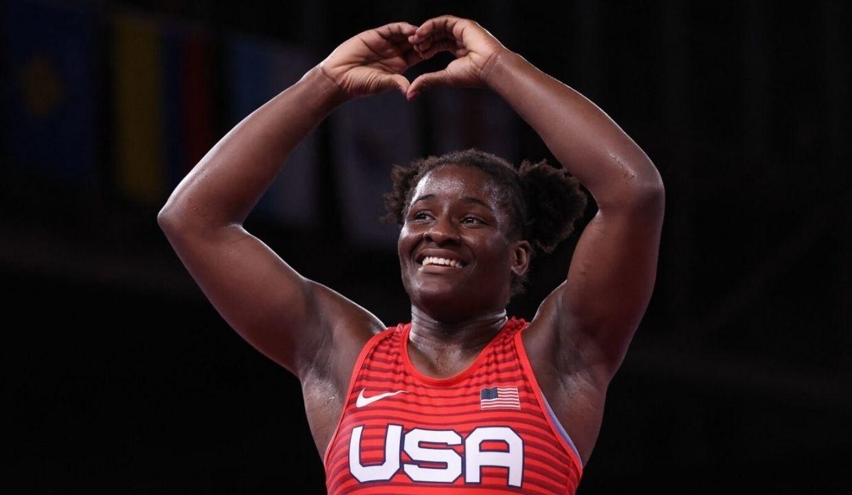 'Glory to God': Gold Medalist Tamyra Mensah-Stock Makes Mom's Dream Come True